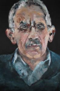 Porträt auf Schwarz